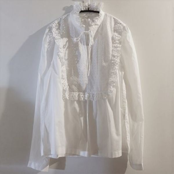 """""""ARKET"""" Broderie Anglaise Blouse White"""