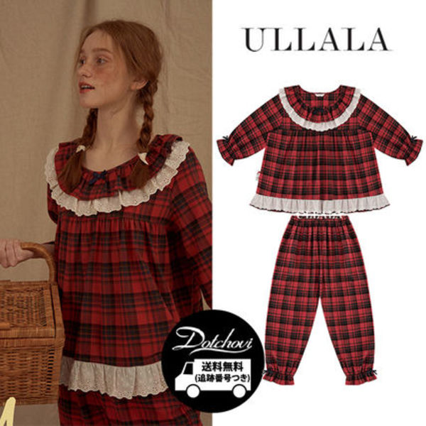 ULLALA PAJAMAS Anne's Love Story Two Piece Red HM261 追跡付