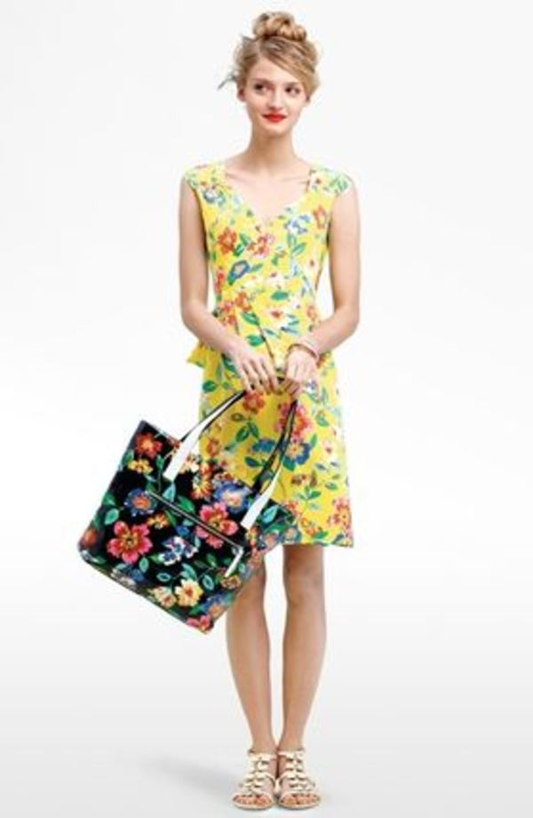 SALE! kate spade★cathleen★素敵シルク花柄シフトラップワンピ