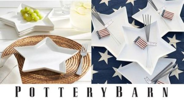 Pottery Barn*SALAD PLATE4枚セット♪