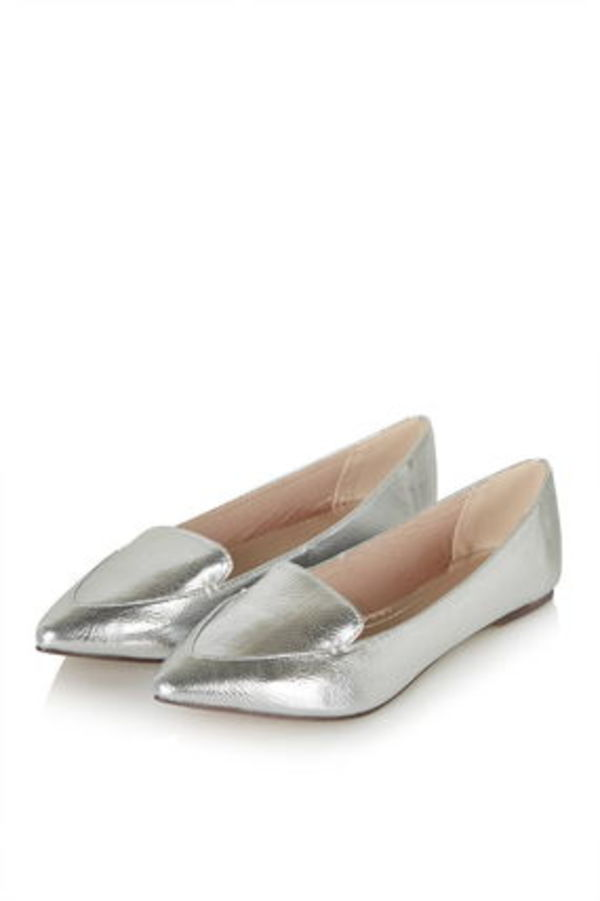 《カジュアルシルバー♪》☆TOPSHOP☆VAN Point Ballet Shoe