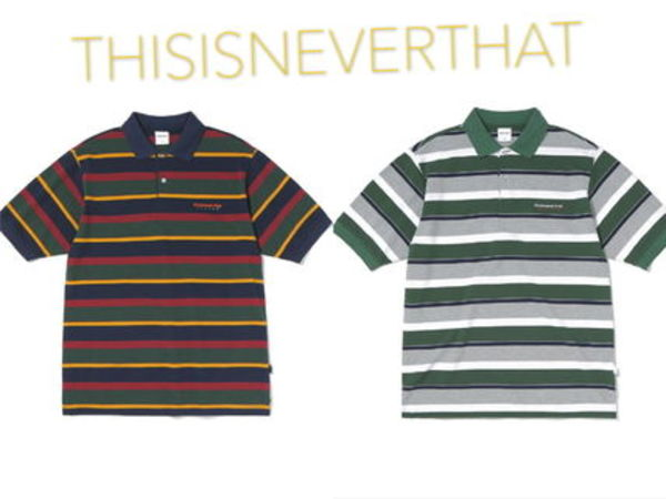 THISISNEVERTHAT DSN STRIPED JERSEY POLO 新作★