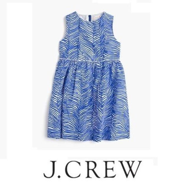 【国内発送】JCrew☆大人もOK☆GIRLS' ZEBRA-PRINT DRESS