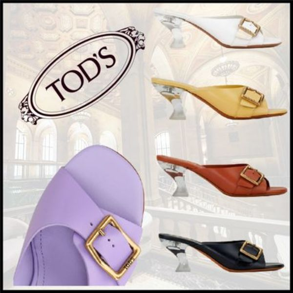 【TODS】クリアソール/レザー/サンダル/SANDALS IN LEATHER