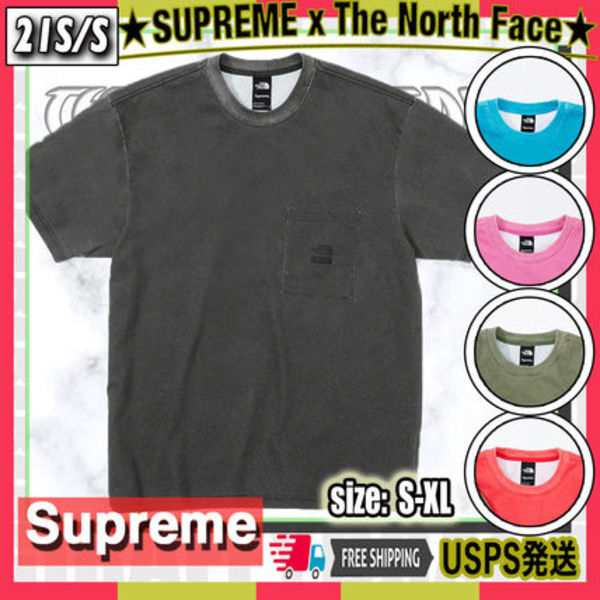 【21SS】SUPREME x The North Face Pigment Printed Tee