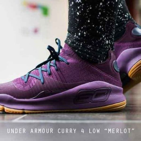 UNDER ARMOUR CURRY 4 LOW 人気のパープル