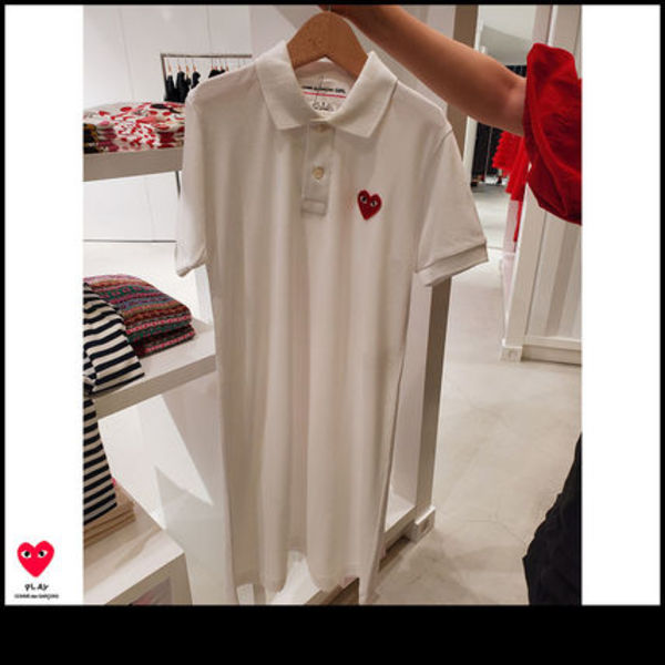 COMME des GARCONS GIRL×PLAYコラボ ポロシャツ 半袖ワンピース