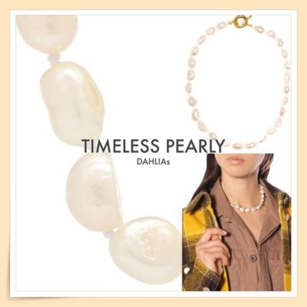 【TIMELESS PEARLY】淡水真珠 バロックパールネックレス/送料込