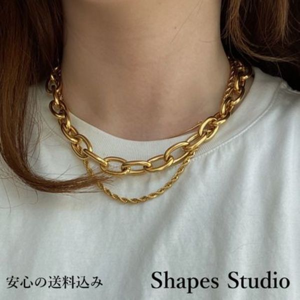 Shapes Studio】国内発送 関送込BOLD CHUNKYチェーンネックレス