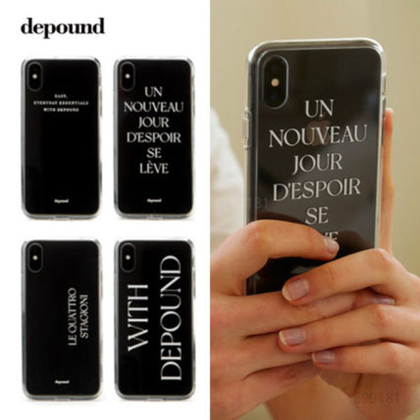 depound clear phone case/ iPhoneケース [追跡送料込]