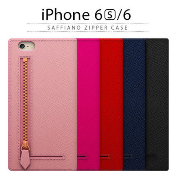 ♪iPhone6s/6 ケース 手帳型 SLG Design Saffiano Zipper Case♪