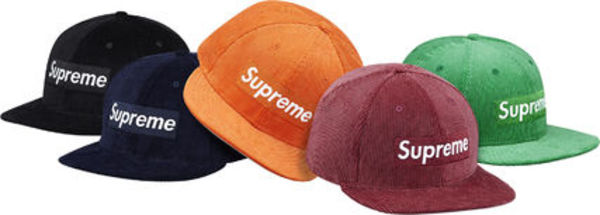 国内発送 Supreme New Era Corduroy Box Logo Cap キャップ
