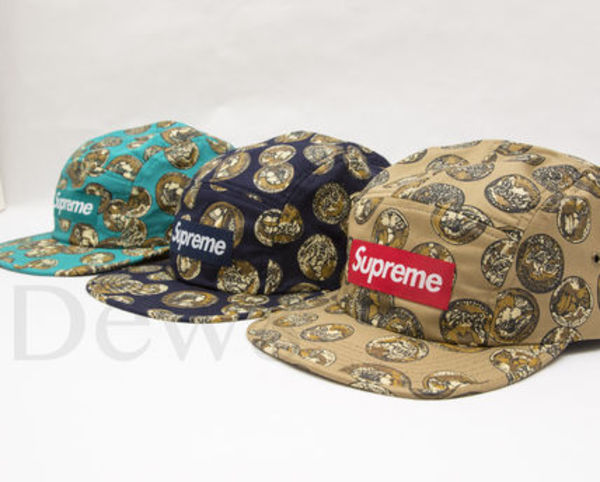 在庫即発  Supreme Coins Camp Cap キャップ White