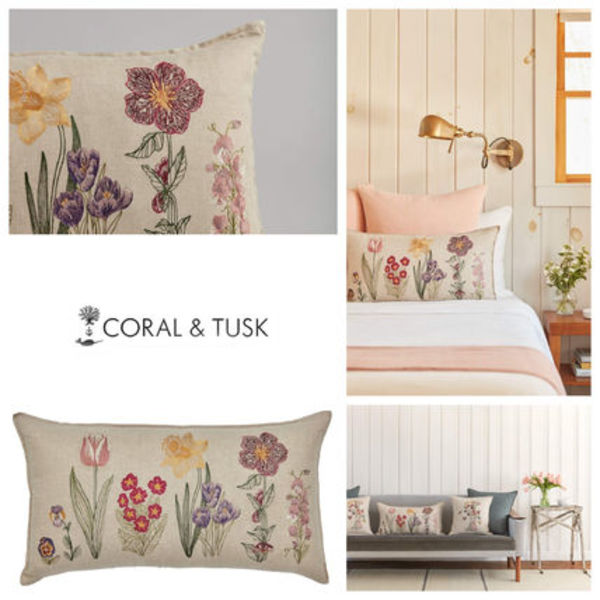 【coral&tusk】ファブリック クッション  Blooms pillow