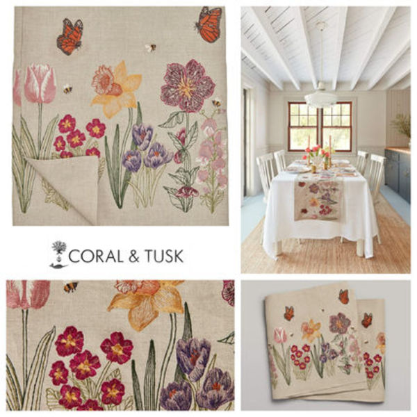 【coral&tusk】テーブルランナー  Blooms table runner