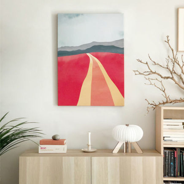 【minimo】Red Country CANVAS FRAME アート(40×50cm)