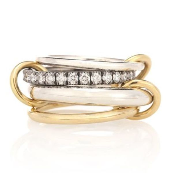 Spinelli Kilcollin◇18k Gold and Silver rings with Diamonds