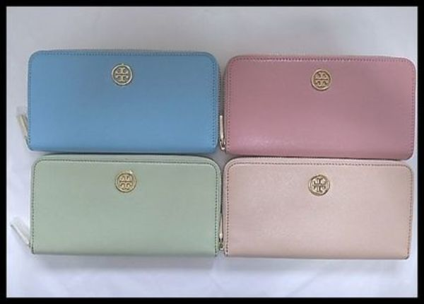 春色★国内在庫★TORY BURCH ROBINSON ZIP CONTINENTAL 長財布