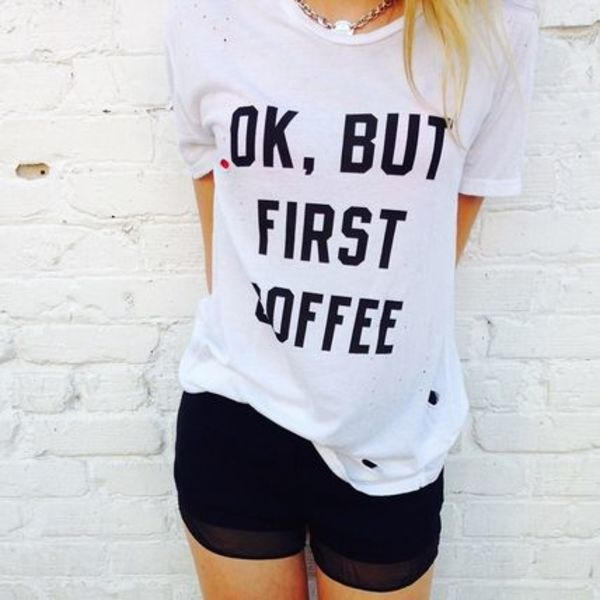 Brandy Melville   MARGIE BUT COFFEE FIRST TOP