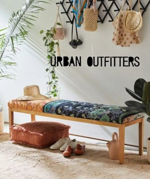 Urban Outfitters【世界に一つ】Kanthaパッチワークベンチ