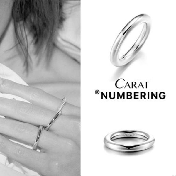 【NUMBERING】Solid Doughnut Ring / Slim★#3502リング/追跡付