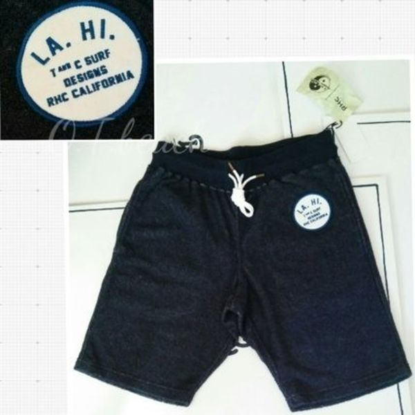 T&C SURF DESIGNS for RHC ロンハーマン/Pile Shorts/ネイビー
