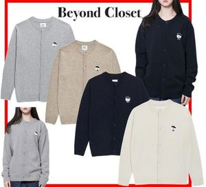 ★BeyondCloset★ILP SIGNATURE PARIS LOGO ROUND KNIT CARDIGAN