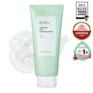 韓国【 ROUND A'ROUND 】Greentea Pure Cleansing Foam 250ml