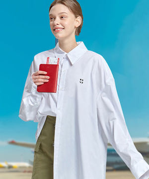 【RSVP】TWO TUCK SLEEVES OVER-FIT SHIRTS (UNISEX) - WHITE