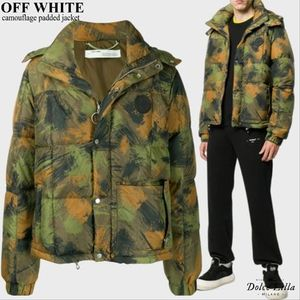 OFF WHITE Camouflage padded jacket