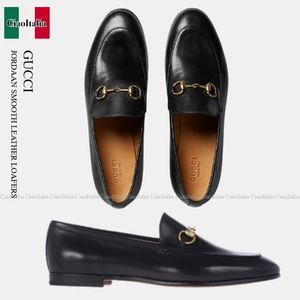Gucci JORDAAN SMOOTH LEATHER LOAFERS