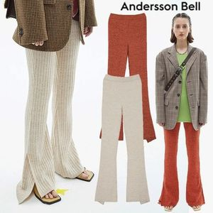 ★ANDERSSON BELL★日本未入荷 RIBBED KNIT SLIT FLARED PANTS