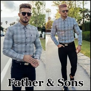 【Father&Sons】ストレッチ 長袖 シャツ チェック柄★送料込★