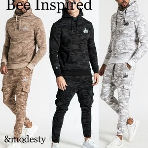 『Bee Inspired』カモフラ柄セットアップ◆フーディージョガー