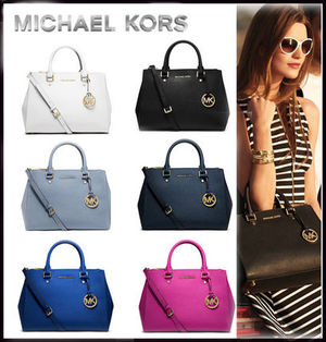 MICHAEL KORS★SUTTON MEDIUM SATCHEL 国内発送! 関税込!