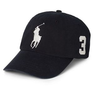 入手困難★送料込★Polo Ralph Lauren Big Pony Chino Cap Black
