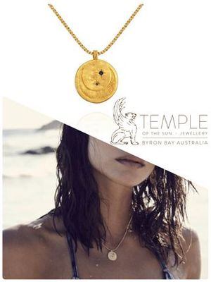 AU発日本未入★TEMPLE OF THE SUN★CELESTEコインネックレスGOLD