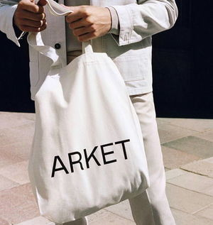 """ARKET"" Canvas Tote OffWhite"