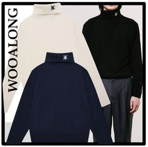 ★関税込★WOOALONG★★Signature Neck Polar Knit ニット