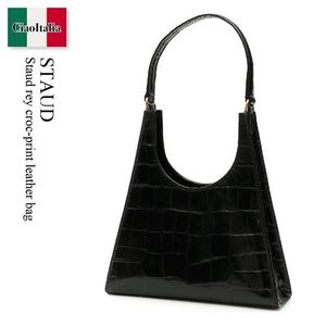 Staud rey croc-print leather bag