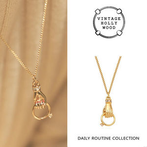 VINTAGE HOLLYWOOD★Hold the Ring Chain Necklace/追跡送