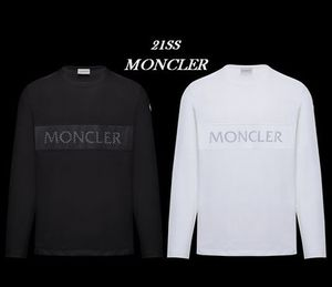 21SS新作【MONCLER】袖ロゴ付きレタリングロゴプリントロンT