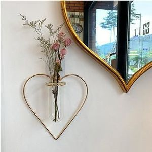 【YOTIMING】Gold iron wire hanging wall hanging heart