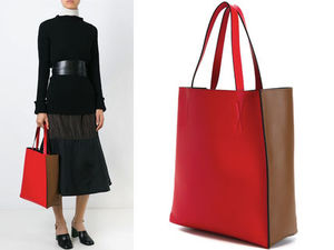 15AW M112 MARNI 'Museo' bi-color shopper tote
