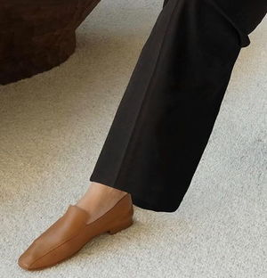 """""""Flattered"""" Viola Leather Loafers Cognac"""