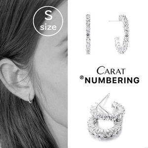【NUMBERING】Pave Mini Hoops (Sサイズ)★#3113ピアス/追跡付