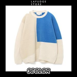 [LAFUDGESTORE] ONEW WOOL MATCHING ROUND KNIT 3COLOR 送料無料