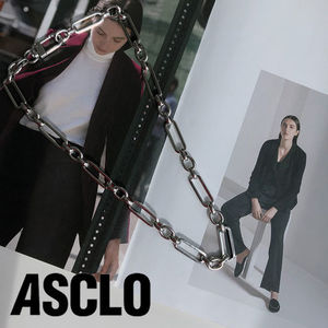 [ASCLO MADE] Handmade Square Chain Necklace (Silver)