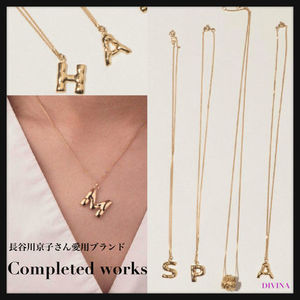 【Conpleted works】ゴールドヴェルメイユネックレス イニシャル