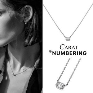 【NUMBERING】Emerald Bezel Necklace★#3740ネックレス/追跡付
